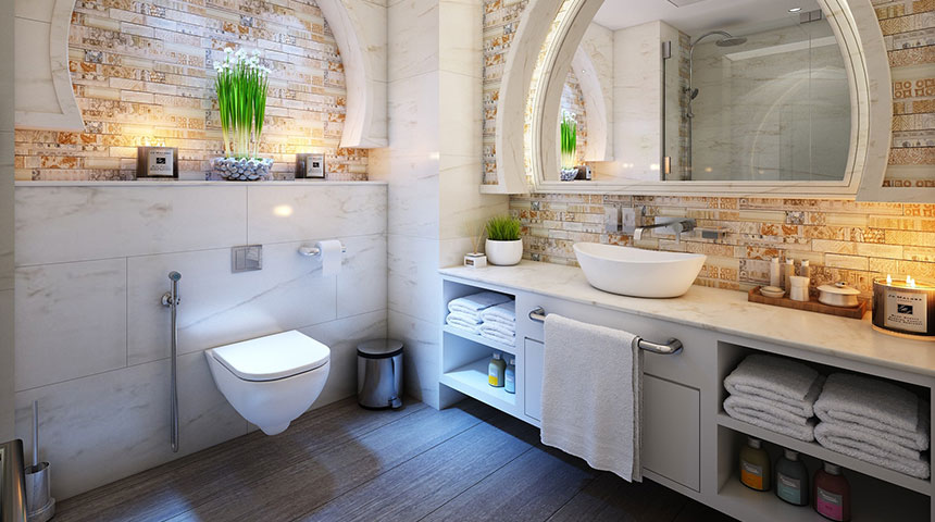 bathroom toilet - Make Your Bathroom More Luxurious With These Cheap Hacks